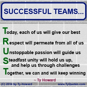 Team Building Quotes Gorgeous Ty Howard's Quotes On Team Building And Teamwork  The Official